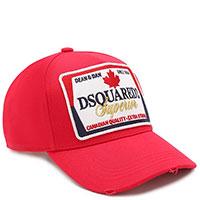 Красная кепка Dsquared2 с потертостями, фото