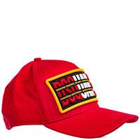 Красная кепка Dsquared2 с контрастной аппликацией, фото