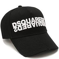 Черная бейсболка Dsquared2 с вышивкой-лого, фото
