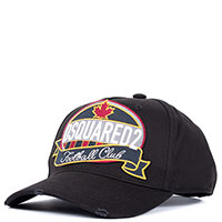 Черная кепка Dsquared2 с логотипом, фото