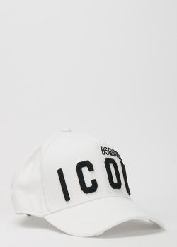 Белая кепка Dsquared2 Icon с фирменной вышивкой, фото