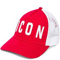Красная кепка Dsquared2 Icon с сетчатой вставкой, фото