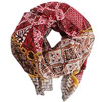 Платок Fattorseta цвета марсала из хлопка, фото