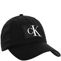 Черная кепка Calvin Klein с фирменной нашивкой, фото
