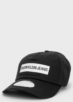 Хлопковая кепка Calvin Klein с надписью, фото
