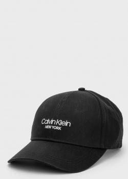 Черная кепка Calvin Klein с логотипом, фото