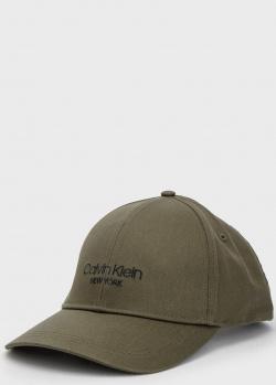 Хлопковая кепка Calvin Klein цвета хаки, фото