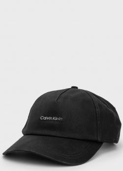 Хлопковая кепка Calvin Klein с брендовым логотипом, фото