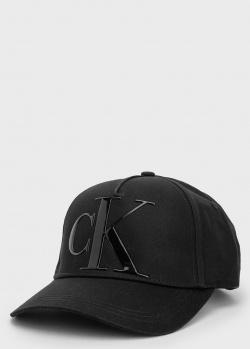 Хлопковая кепка Calvin Klein черного цвета, фото