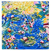 Шелковый платок Freywille по мотивам творчества Клода Моне, фото