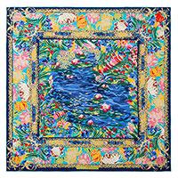 Платок Freywille с принтом в виде картины Клода Моне, фото