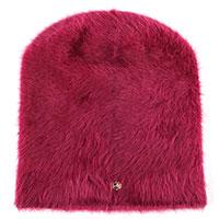 Женская ангоровая шапка Coccinelle бордового цвета, фото