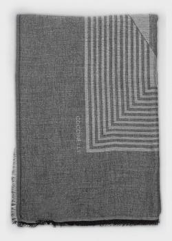 Серый шарф Coccinelle с геометрическим узором, фото