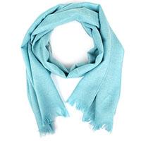 Бирюзовый шарф Maalbi из натуральной шерсти, фото