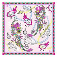Розовый платок D.OLYA by Olga Dvoryanskaya из шелка, фото