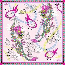 Платок из шелка D.OLYA by Olga Dvoryanskaya с рисунком дракона, фото