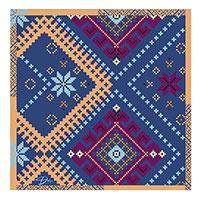 Шелковый платок D.OLYA by Olga Dvoryanskaya синего цвета, фото
