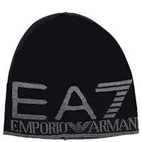 Шапка Ea7 Emporio Armani черного цвета, фото