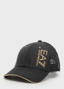 Мужская кепка Ea7 Emporio Armani с золотистым лого, фото