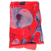 Красный шарф Emporio Armani с цветочным принтом, фото