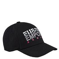 Черная кепка Emporio Armani с лого бренда, фото