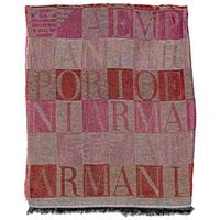 Шарф Emporio Armani бордового цвета с логотипом, фото