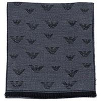 Серый мужской шарф Emporio Armani с принтом, фото