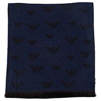 Мужской шарф Emporio Armani с брендовым принтом, фото