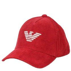 Красная кепка Emporio Armani с вышивкой-орлом, фото
