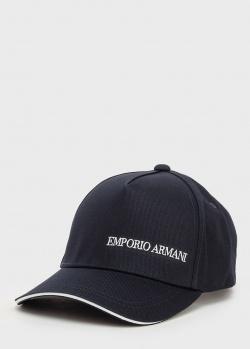 Черная кепка Emporio Armani с полосой на козырьке, фото