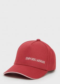 Мужская кепка Emporio Armani красного цвета, фото