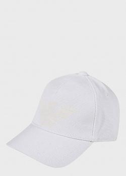 Белая кепка Emporio Armani с фирменным принтом, фото