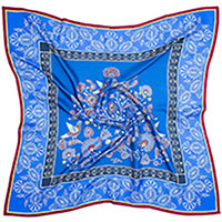 Шелковый платок D.OLYA by Olga Dvoryanskaya First Lady синего цвета, фото