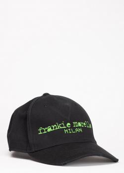 Черная кепка Frankie Morello с надписью, фото