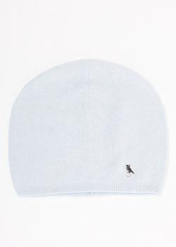 Кашемировая шапка GD Cashmere голубого цвета, фото