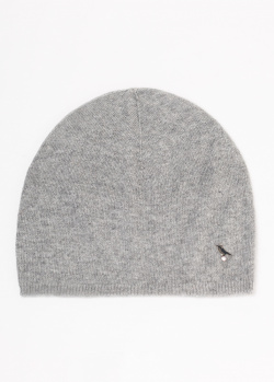 Кашемировая шапка GD Cashmere серого цвета, фото