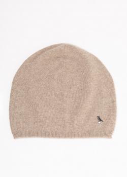 Кашемировая шапка GD Cashmere бежевого цвета, фото