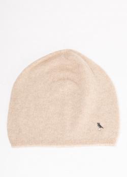 Кашемировая шапка GD Cashmere с декором-птицей, фото