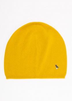 Кашемировая шапка GD Cashmere желтого цвета, фото