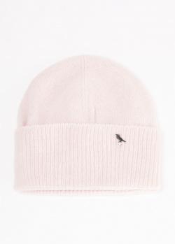 Розовая шапка GD Cashmere с отворотом, фото