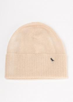 Бежевая шапка GD Cashmere из кашемира и мериносовой шерсти, фото