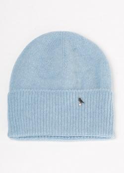 Голубая шапка GD Cashmere из шерсти и кашемира, фото