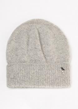 Меланжевая шапка GD Cashmere с отворотом, фото