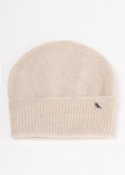 Бежевая шапка GD Cashmere из меланжевой пряжи, фото