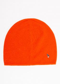 Кашемировая шапка GD Cashmere оранжевого цвета, фото