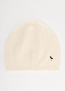 Кашемировая шапка GD Cashmere молочного цвета, фото
