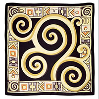 Шелковый платок Freywille по мотивам творчества Густава Климта, фото