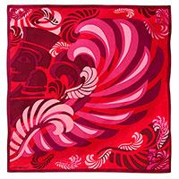 Платок шелковый Freywille с абстрактным принтом, фото