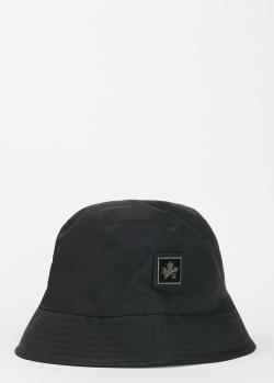 Черная панама Dsquared2 с логотипом, фото