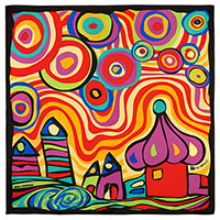 Платок из шелка Freywille с абстрактным узором, фото